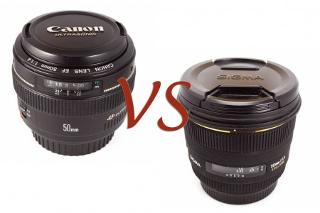 Sigma 50mm f/1.4 EX DG vs Canon 50mm f/1.4 USM