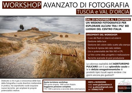Workshop Avanzato di Fotografia - Tuscia e Val D'Orcia