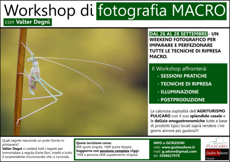 Workshop di Fotografia MACRO